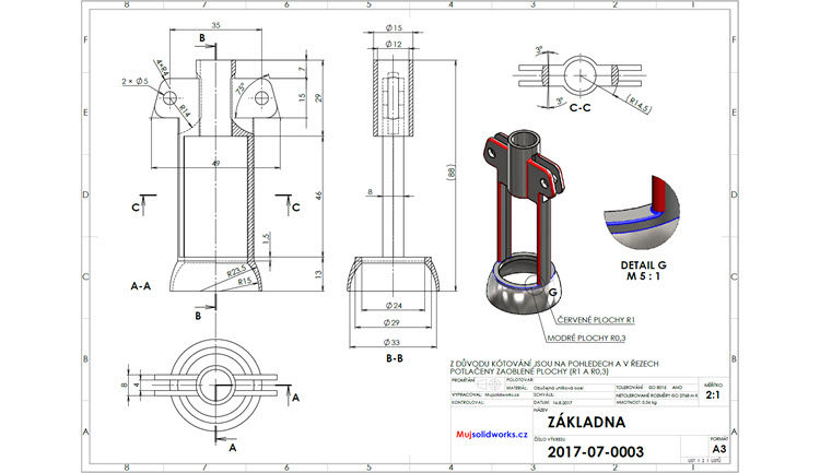 10-SolidWorks-vyvrtka-telo-zadani-drawing-corkscrew