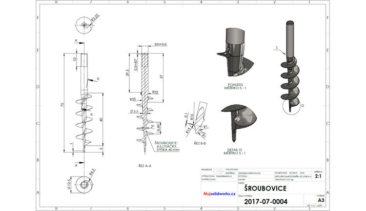 8-SolidWorks-vyvrtka-sroubovice-zadani-drawing-corkscrew