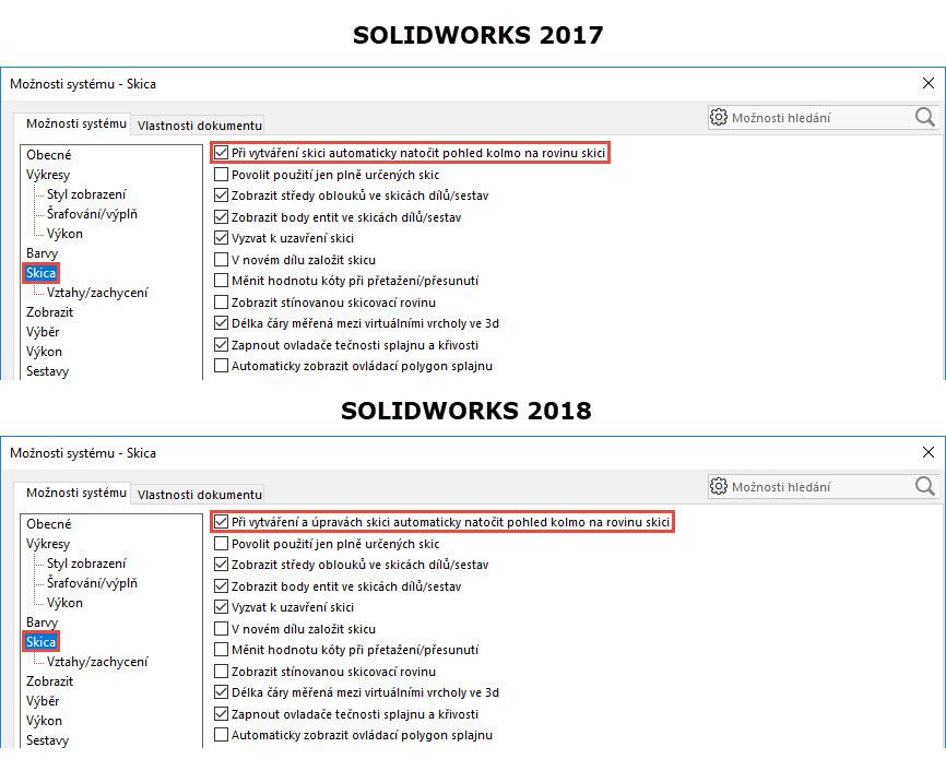 1-SolidWorks-2018-automaticky-pohled-na-rovinu-skici