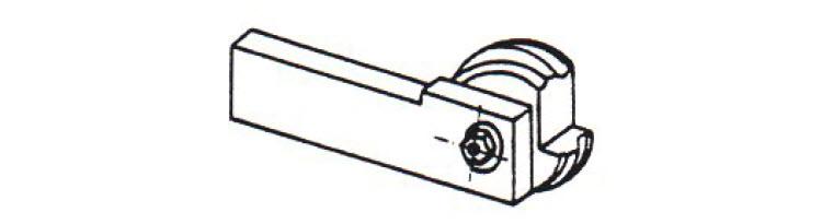 Hřbet kotoučového soustružnického nože tvoří Archimédova spirála. Obrázek: Technologie I. – Technologie obrábění – 1. část; Humár Anton