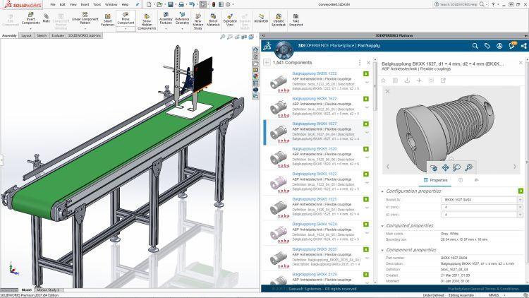 Prostředí platformy Marketplace PartSupply.Obrázek: Dassault Systèmes