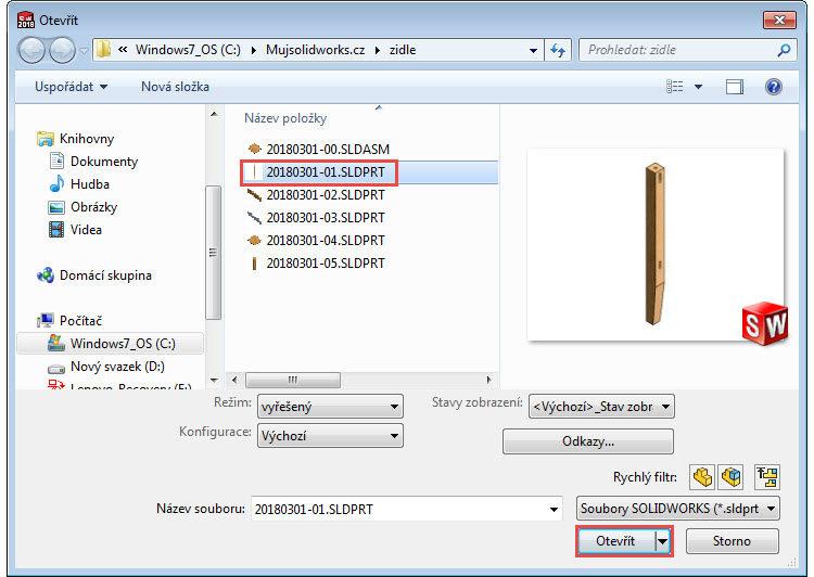 11-Mujsolidworks-sestava-zidle-postup-tutorial-navod