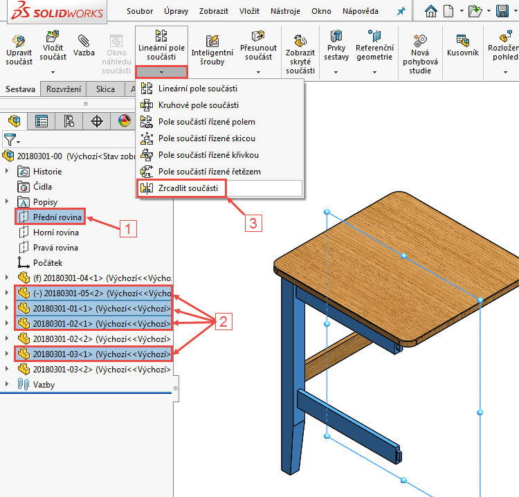 27-Mujsolidworks-sestava-zidle-postup-tutorial-navod