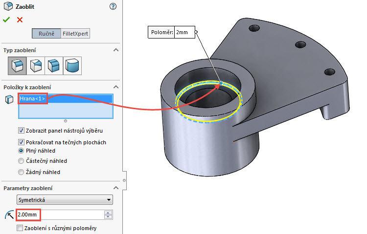 45-SolidWorks-vahadlo1-Hranice-2018-postup-tutorial-navod