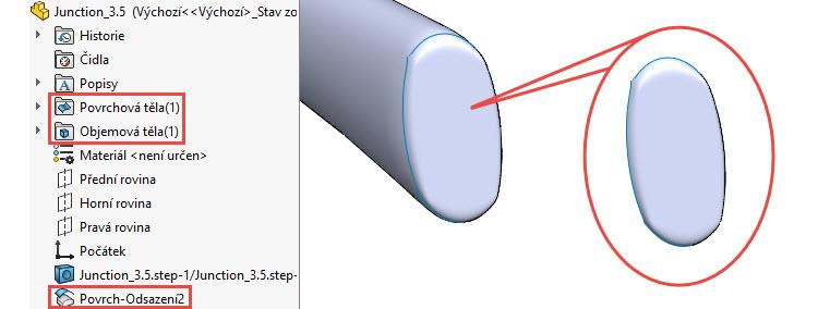 Jak zkopírovat povrch objemového nebo plošného modelu