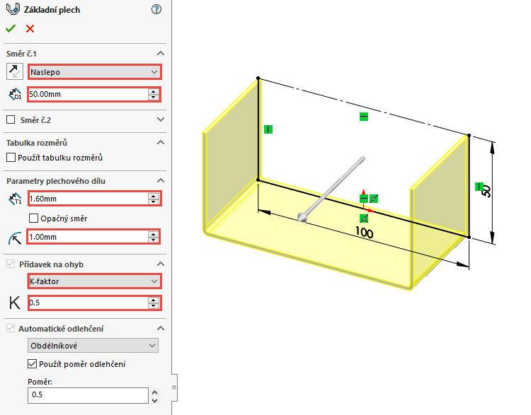 2-SolidWorks-plechove-dily-sheet-metal-konfigurace-vykres