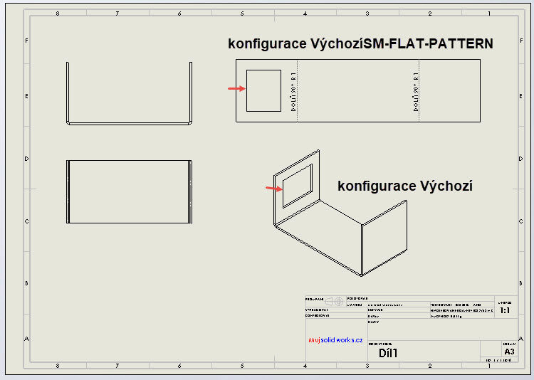 6-SolidWorks-plechove-dily-sheet-metal-konfigurace-vykres