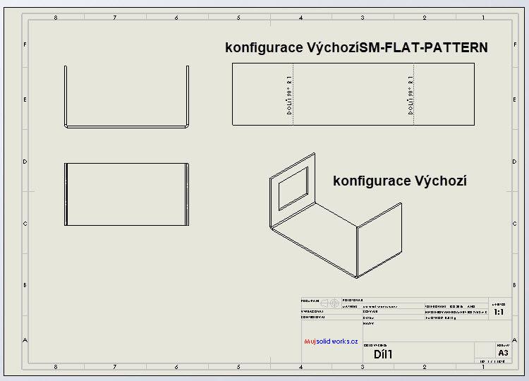 8-SolidWorks-plechove-dily-sheet-metal-konfigurace-vykres