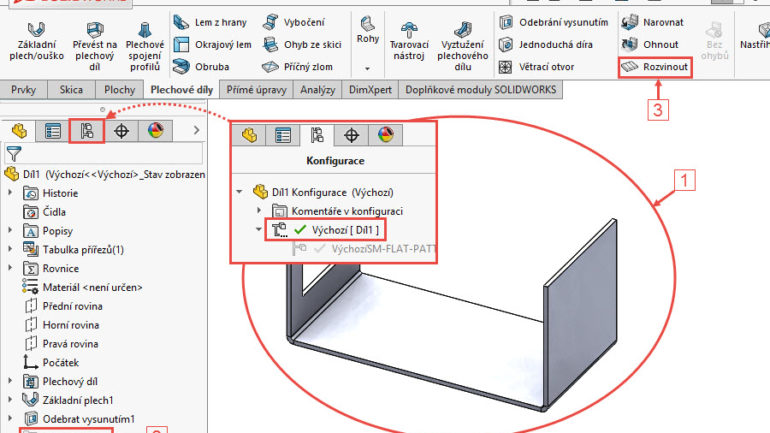 9-SolidWorks-plechove-dily-sheet-metal-konfigurace-vykres