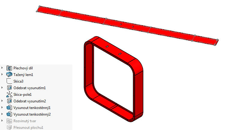 Postup modelování skříně větráku #3