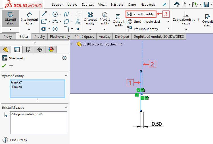 7.4-SolidWorks-postup-navod-modelani-vetrak-plechove-dily-skrin