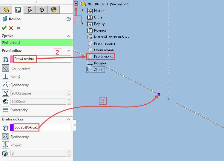 9.1-SolidWorks-postup-navod-modelani-vetrak-plechove-dily-skrin