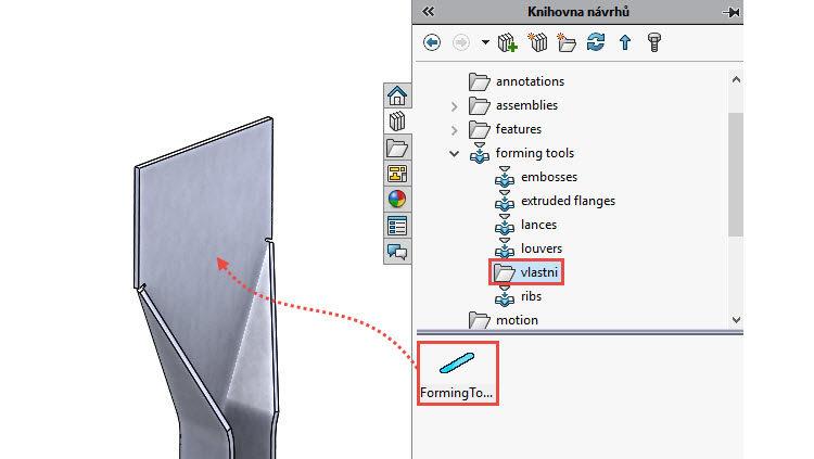 103-SolidWorks-postup-navod-modelani-vetrak-plechove-dily-vyztuha-skrine