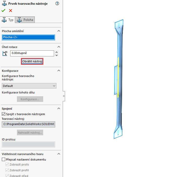 109-SolidWorks-postup-navod-modelani-vetrak-plechove-dily-vyztuha-skrine