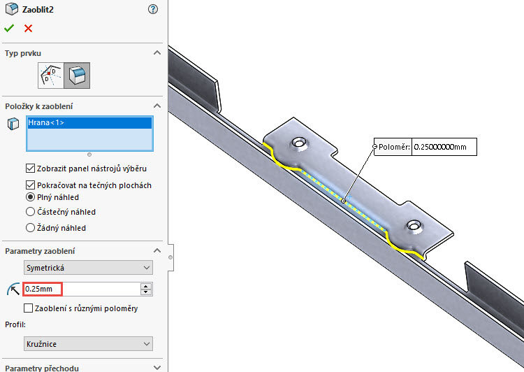 129-SolidWorks-postup-navod-modelani-vetrak-plechove-dily-vyztuha-skrine