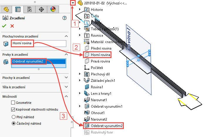 40-SolidWorks-postup-navod-modelani-vetrak-plechove-dily-vyztuha-skrine