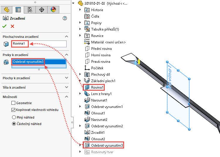 71-SolidWorks-postup-navod-modelani-vetrak-plechove-dily-vyztuha-skrine