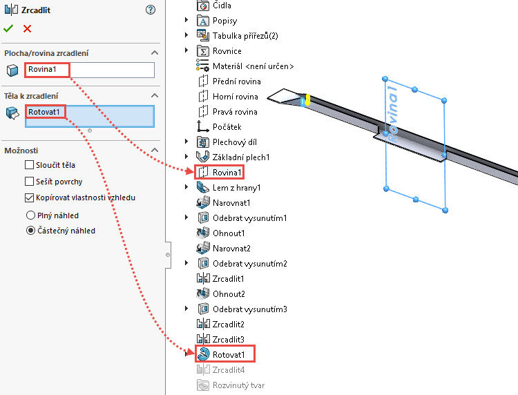 91-SolidWorks-postup-navod-modelani-vetrak-plechove-dily-vyztuha-skrine
