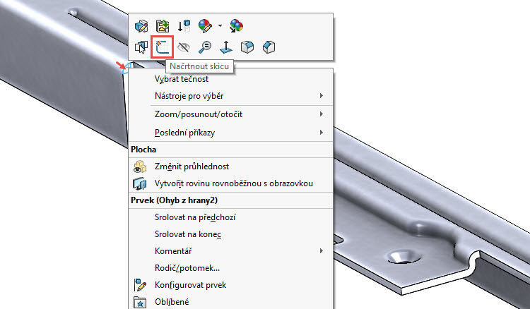 131-SolidWorks-postup-navod-modelani-vetrak-plechove-dily-vyztuha-skrine