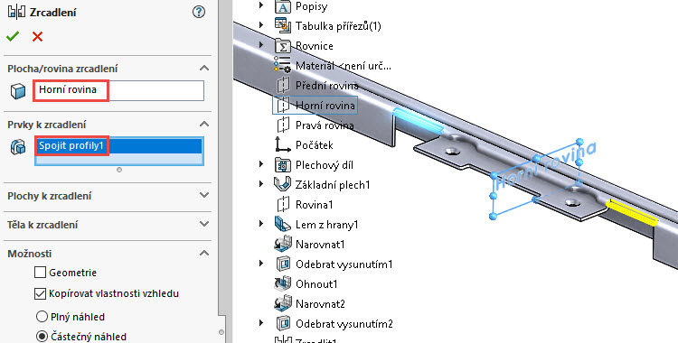 141-SolidWorks-postup-navod-modelani-vetrak-plechove-dily-vyztuha-skrine