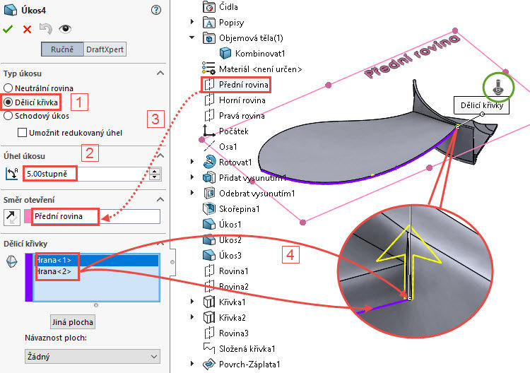 117-SolidWorks-postup-navod-modelani-vetrak-plechove-dily-lopatkove-kolo