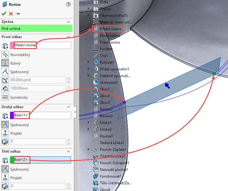161-SolidWorks-postup-navod-modelani-vetrak-plechove-dily-lopatkove-kolo