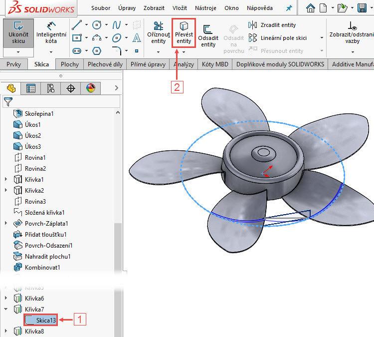 168-SolidWorks-postup-navod-modelani-vetrak-plechove-dily-lopatkove-kolo