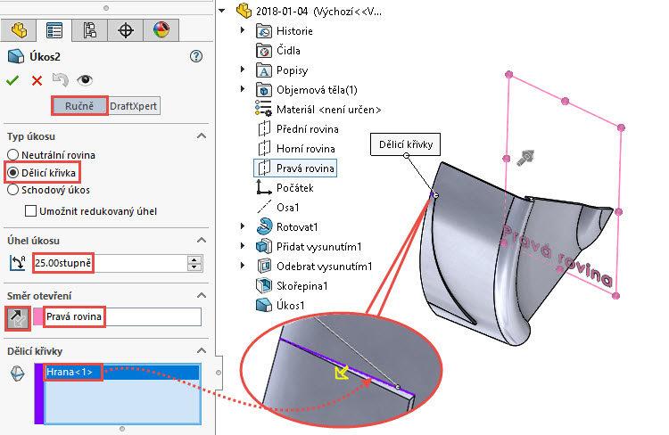 37-SolidWorks-postup-navod-modelani-vetrak-plechove-dily-lopatkove-kolo
