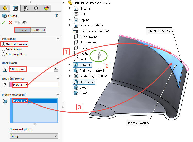 38-SolidWorks-postup-navod-modelani-vetrak-plechove-dily-lopatkove-kolo