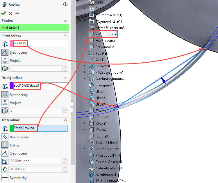 205-SolidWorks-postup-navod-modelani-vetrak-plechove-dily-lopatkove-kolo