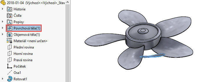 225-SolidWorks-postup-navod-modelani-vetrak-plechove-dily-lopatkove-kolo