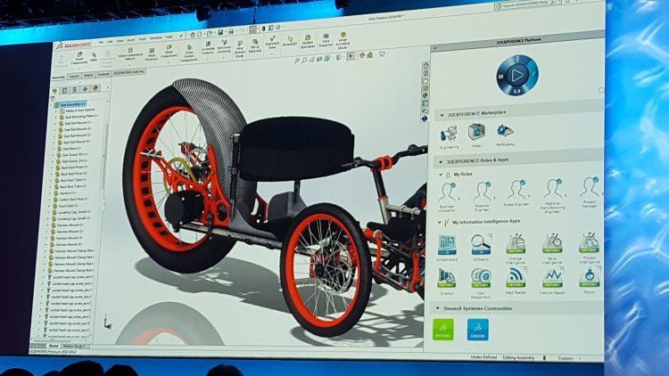 Ukázka implantace nástrojů platformy 3D Experience vprostředí SOLIDWORKSu.
