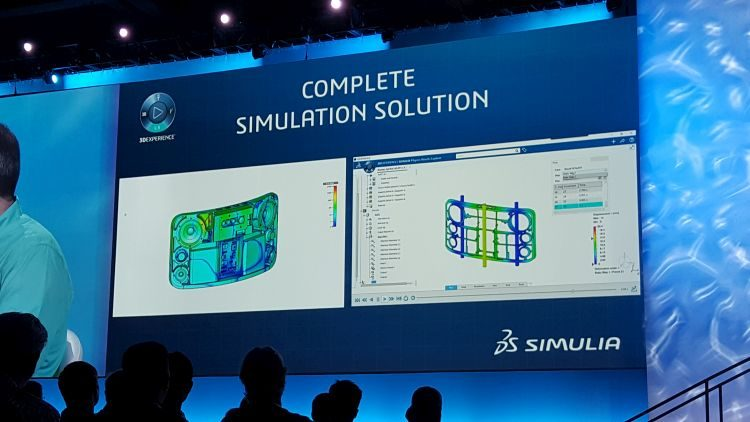Silný nástroj pro simulace běžící na platformě 3D Experience je řešení Simulia.
