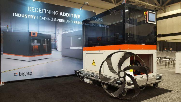 Velkoformátový 3D tisk technologií FDM vystavovala společnost Bigrep.