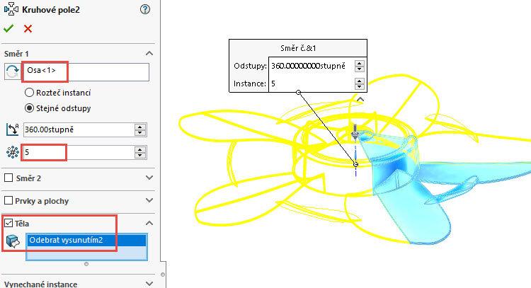378-SolidWorks-postup-navod-modelani-vetrak-plechove-dily-lopatkove-kolo