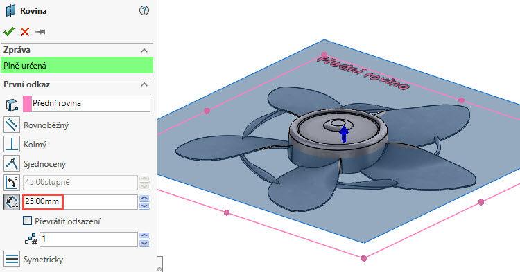 381-SolidWorks-postup-navod-modelani-vetrak-plechove-dily-lopatkove-kolo