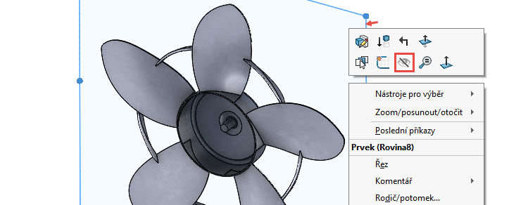 384-SolidWorks-postup-navod-modelani-vetrak-plechove-dily-lopatkove-kolo