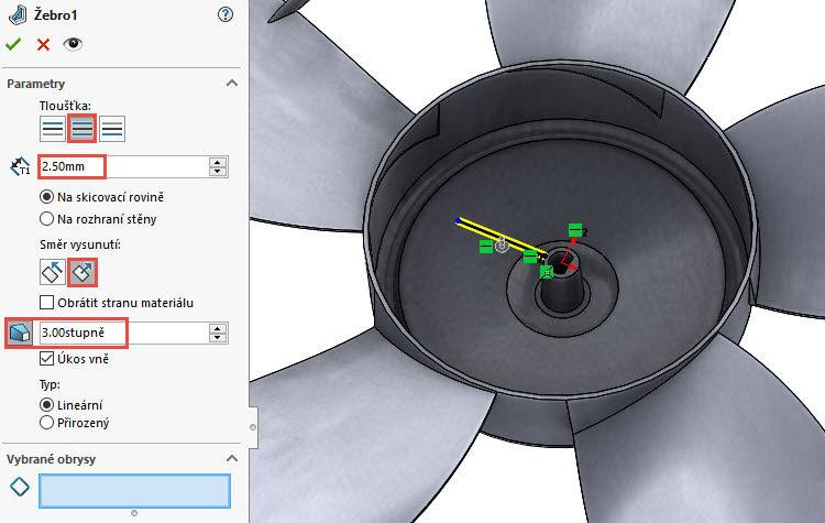 390-SolidWorks-postup-navod-modelani-vetrak-plechove-dily-lopatkove-kolo