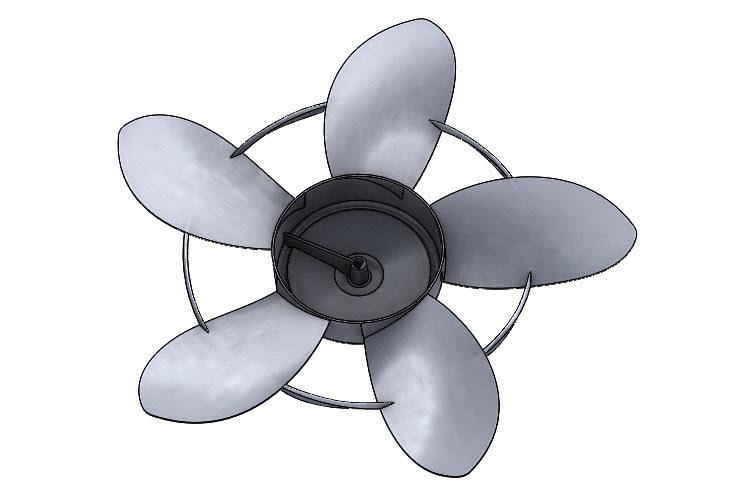 391-SolidWorks-postup-navod-modelani-vetrak-plechove-dily-lopatkove-kolo
