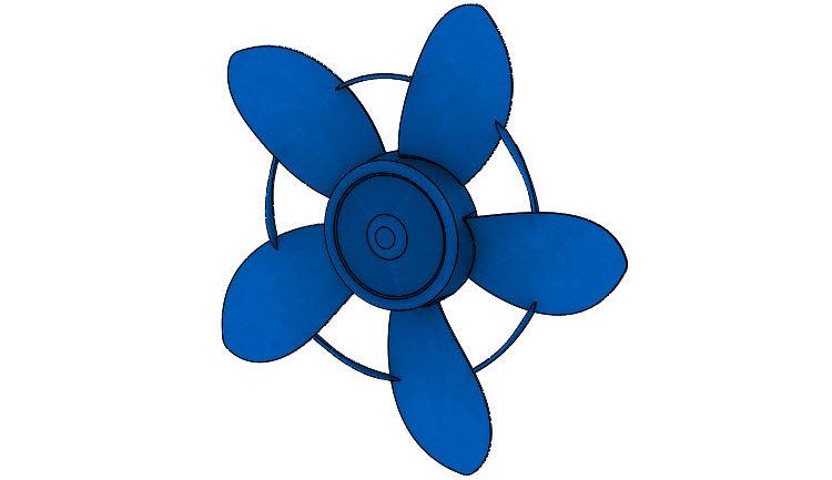 396-SolidWorks-postup-navod-modelani-vetrak-plechove-dily-lopatkove-kolo
