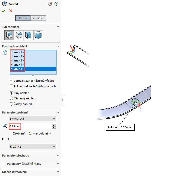 105-Mujsolidworks-dratena-sit-predni-vetrak-postup-navod-tutorial