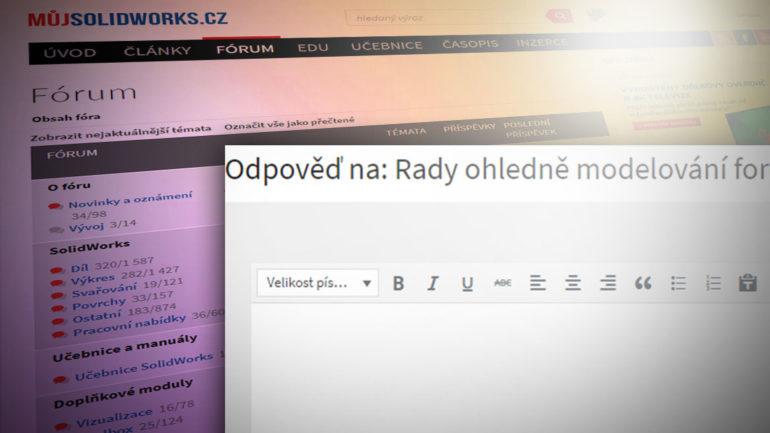 Práce s novým textovým editorem – novinky na Mujsolidworks.cz