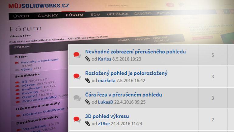Rozlišení přečtených a nepřečtených příspěvků ve fóru – novinky na Mujsolidworks.cz