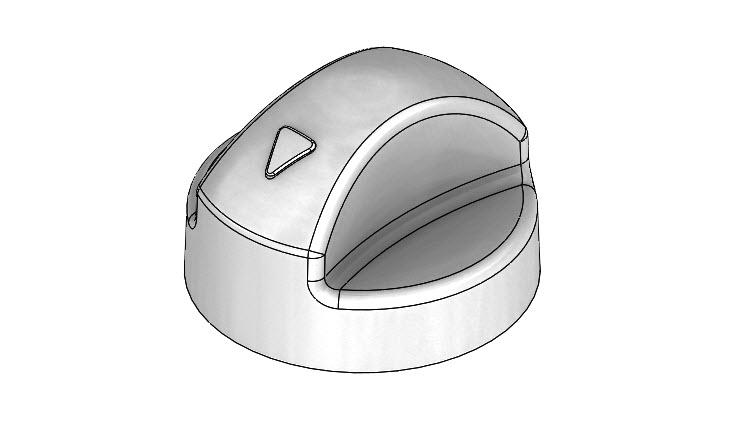 Postup modelování spínacího knoflíku #3