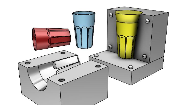 Postup modelování sklenice #8: Konstrukce formy