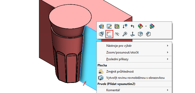 95-SOLIDWORKS-mold-forma-formovani-postup-modelovani-sklenice