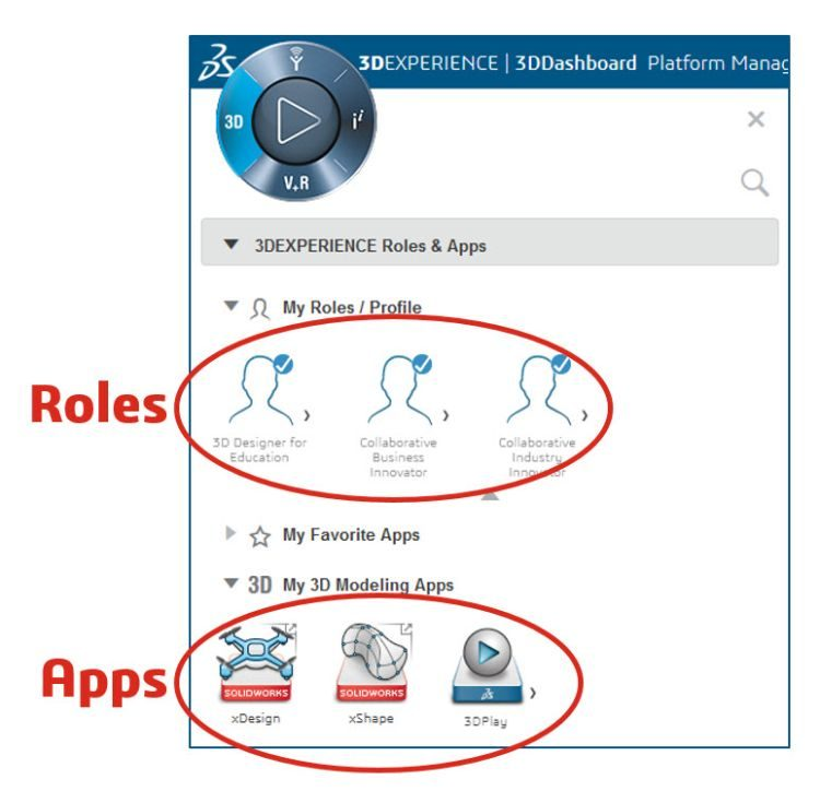 1-SOLIDWORKS-3DExperience-roles-and-apps