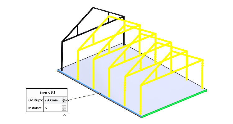 Konstrukční systém: Podpora polí a zrcadlení