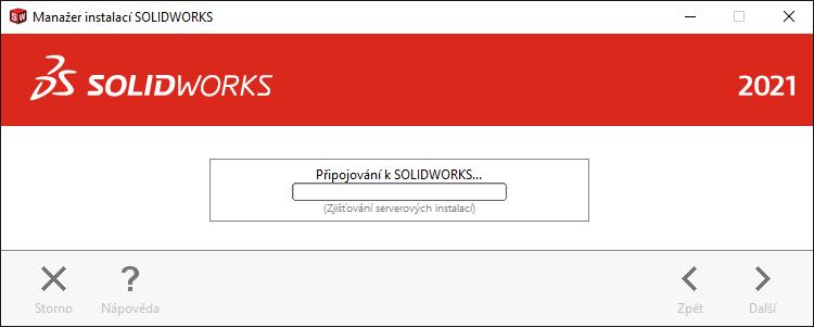 Manažer instalací SOLIDWORKS 2021 stáhne a extrahuje instalační soubory rychleji než předchozí verze