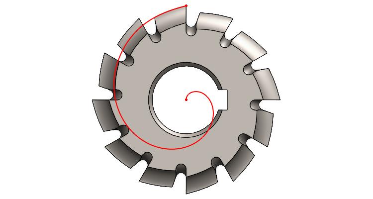Jak zkonstruovat Archimédovu spirálu #2